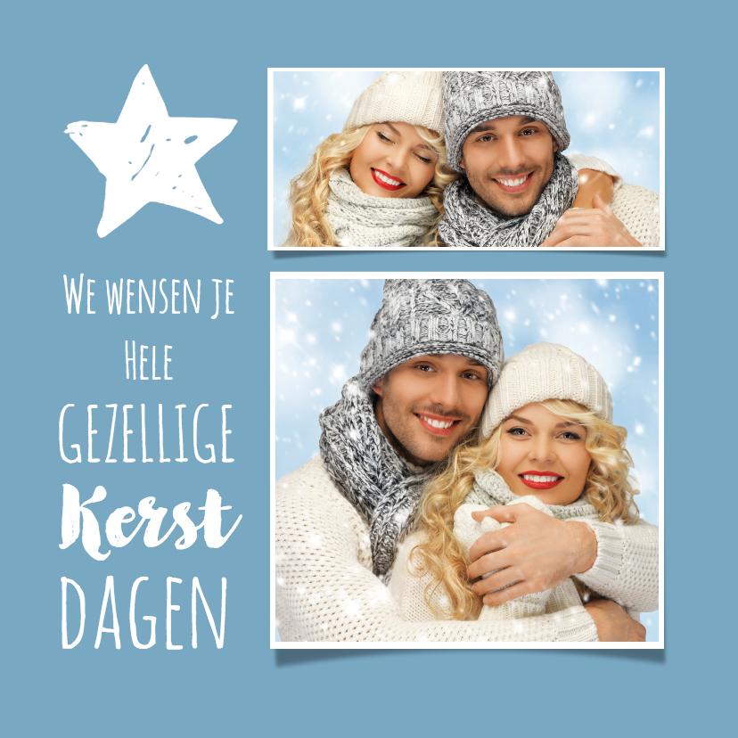 Kerstkaarten - Kerst nieuwjaar collage 3-luik