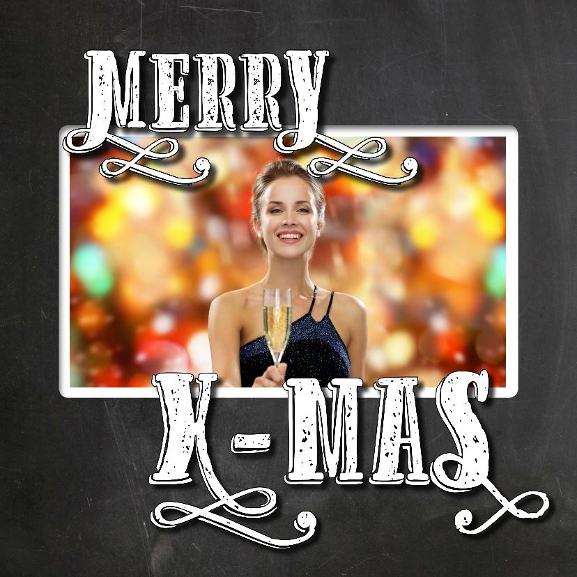 Kerstkaarten - Kerst Nieuwjaarskaart krijt - SG