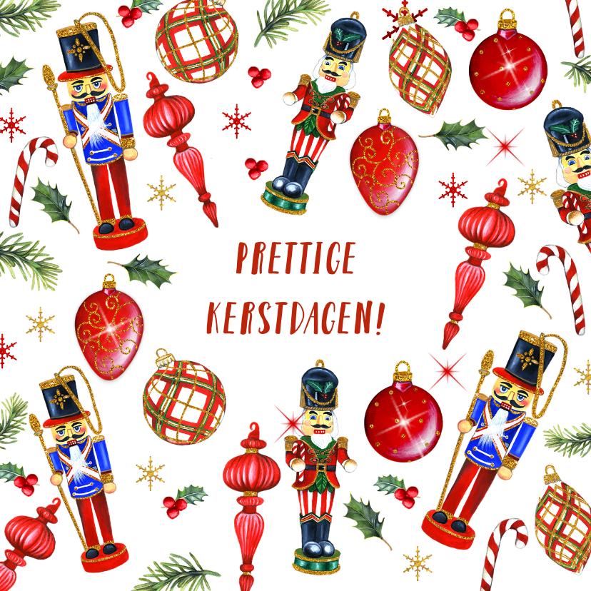 Kerstkaarten - Kerst notenkrakers kerstballen