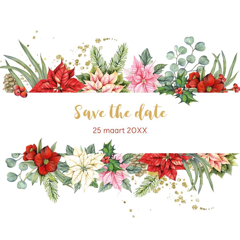 Kerstkaarten - Kerst Save the date kerstster