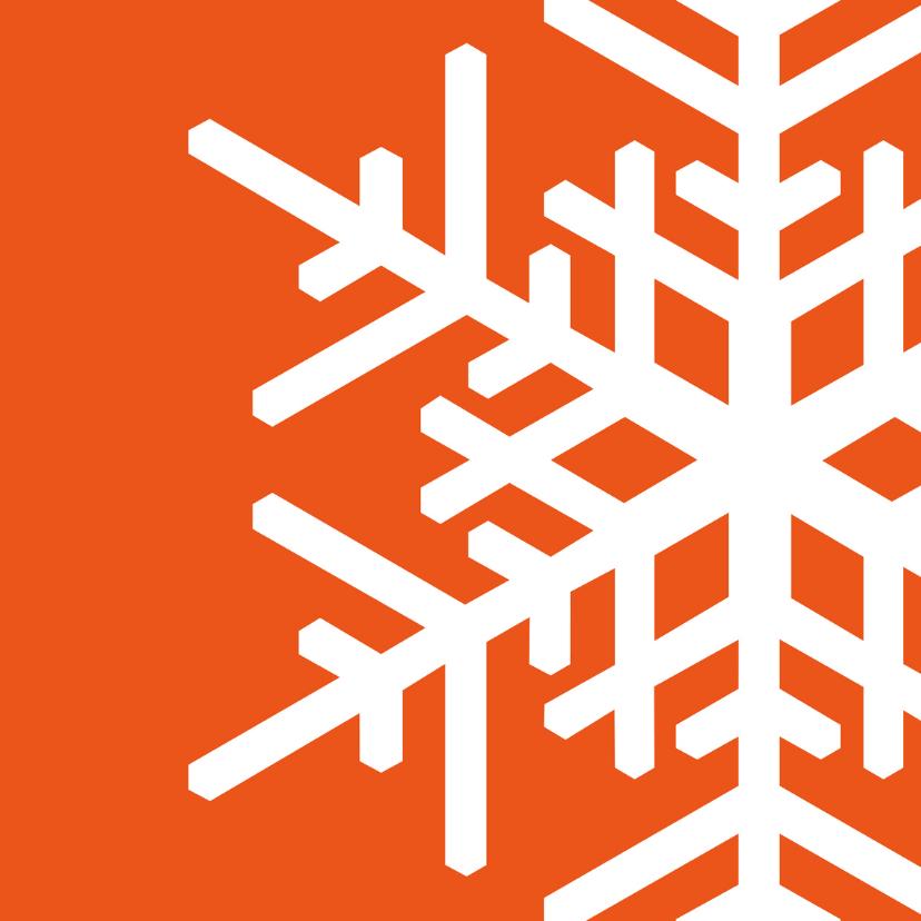 Kerstkaarten - Kerst Strak oranje ijskristal met sierletters