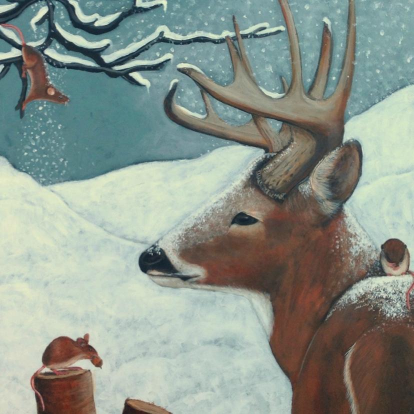 Kerstkaarten - Kerst tafereel