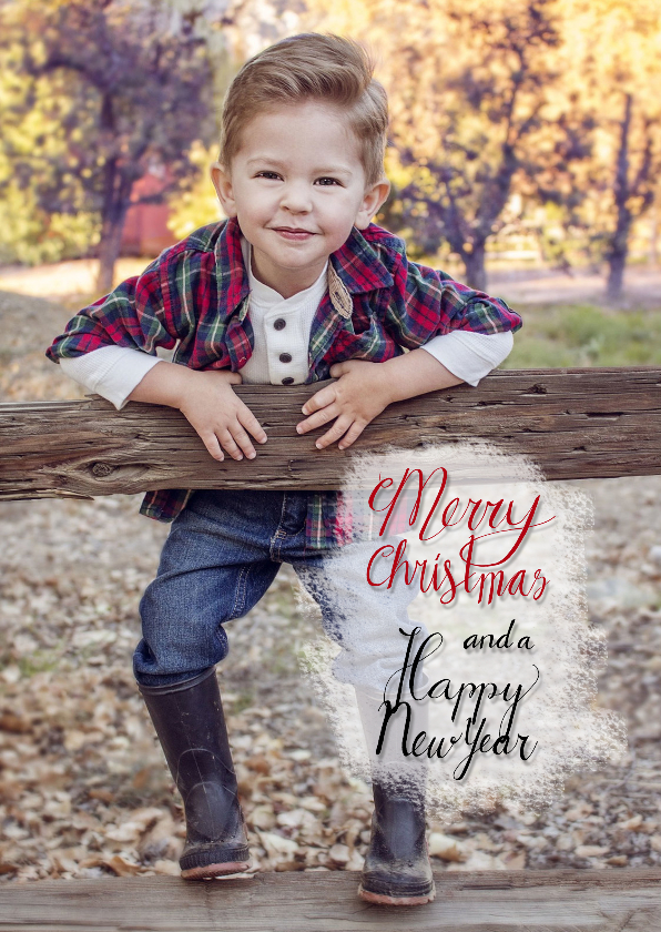 Kerstkaarten - Kerst takjes fotokaart