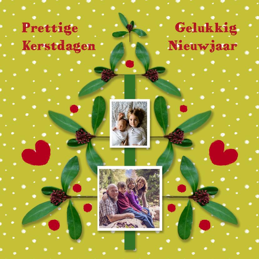 Kerstkaarten - Kerst Takjesboom Groen - HR