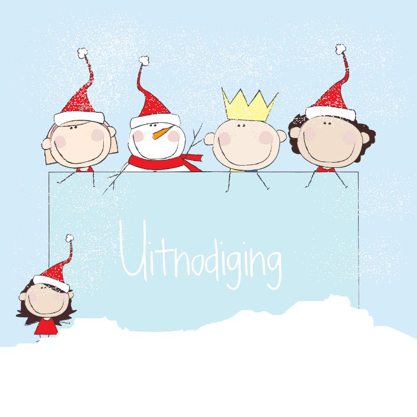 Kerstkaarten - Kerst uitnodiging Illustratie