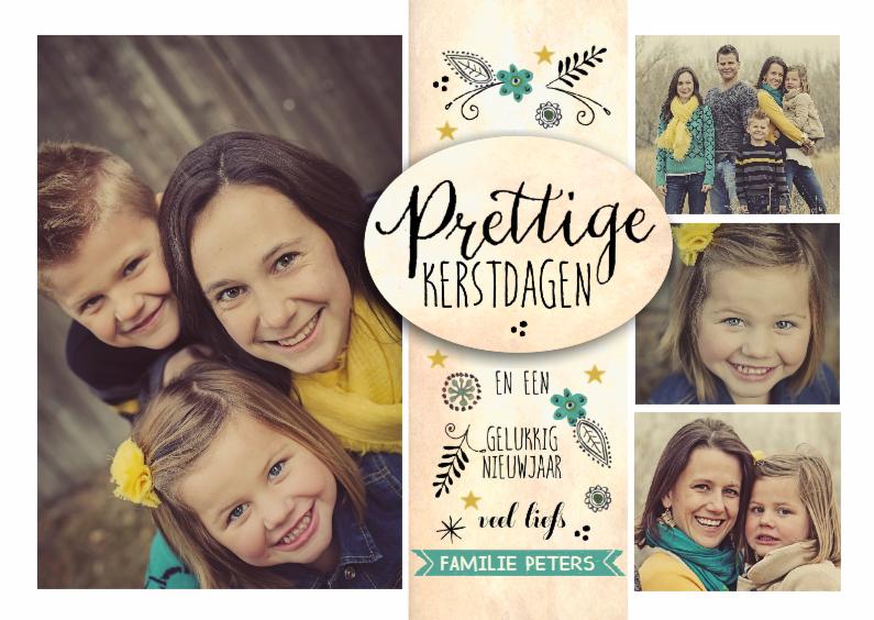 Kerstkaarten - Kerst Vintage Familie collage
