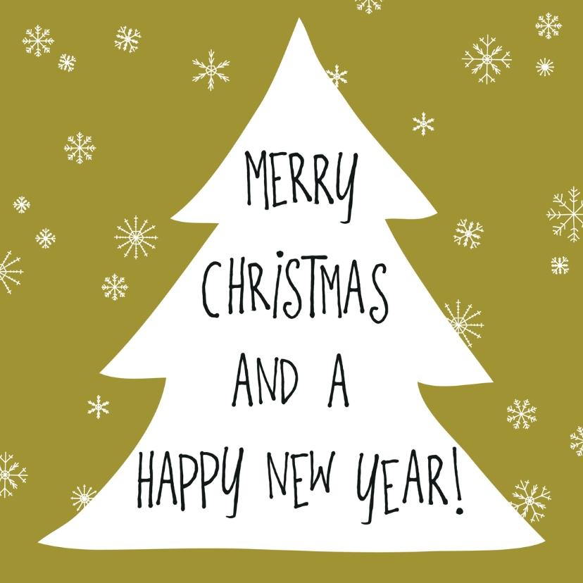 Kerstkaarten - Kerstboom handgeschreven tekst