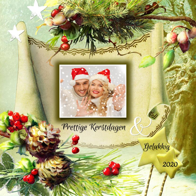 Kerstkaarten - Kerstgroet eigen foto winterbos 2019