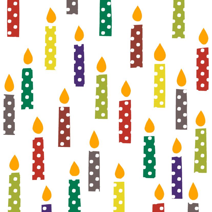 Kerstkaarten - Kerstkaarsen met stippen