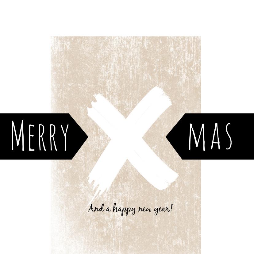 Kerstkaarten - Kerstkaart 2020-2021, Merry X-Mas