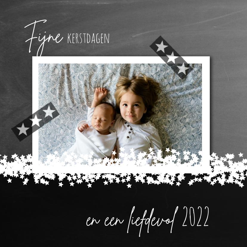 Kerstkaarten - Kerstkaart 2021-2022 foto sterretjes