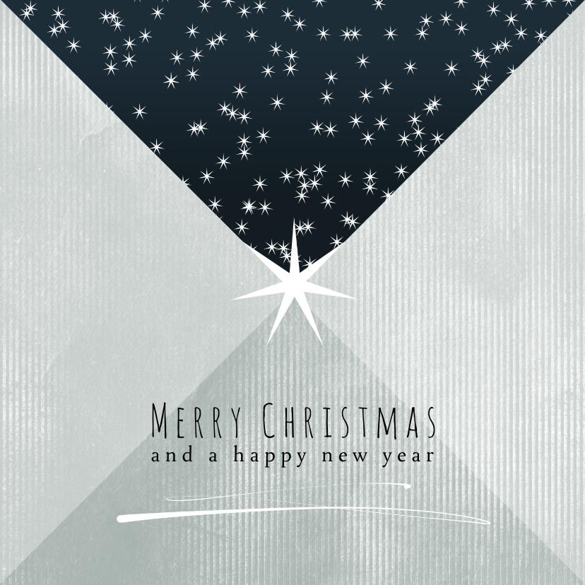 Kerstkaarten - Kerstkaart 2021-2022, Merry Christmas sterretjes