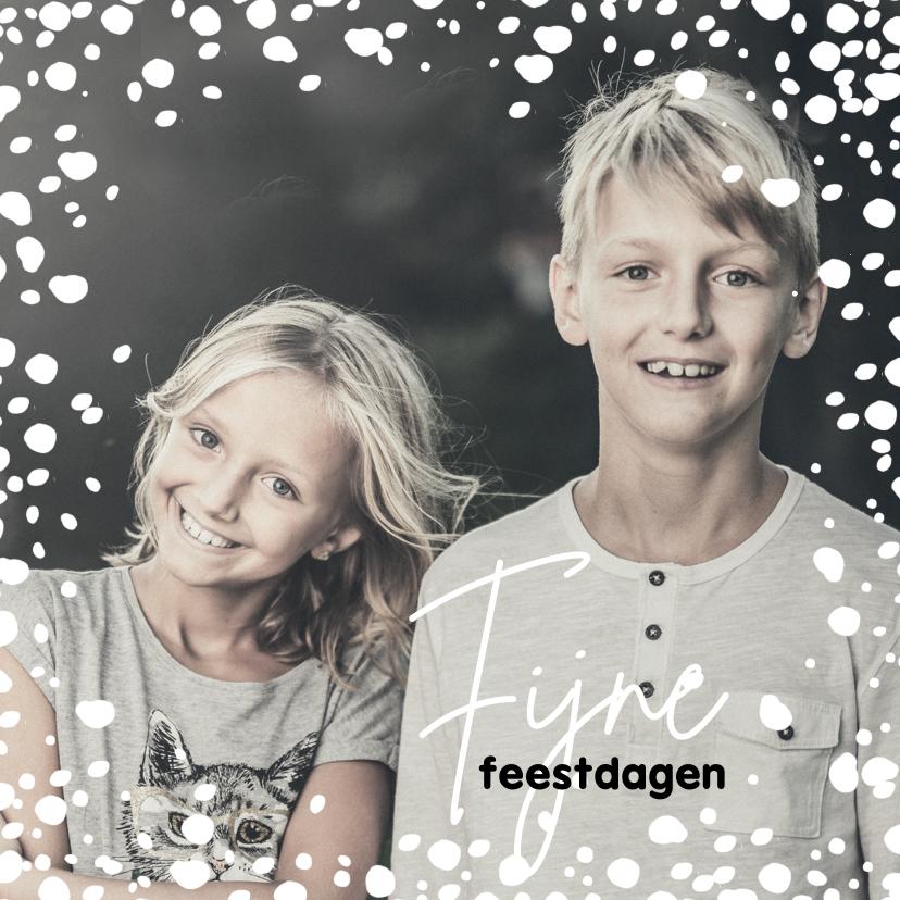 Kerstkaarten - Kerstkaart 2021-2022, met grote foto en sneeuw