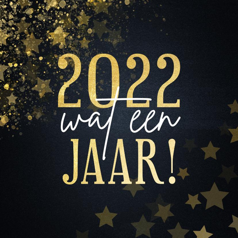 Kerstkaarten - Kerstkaart 2021 wat een jaar met sterren