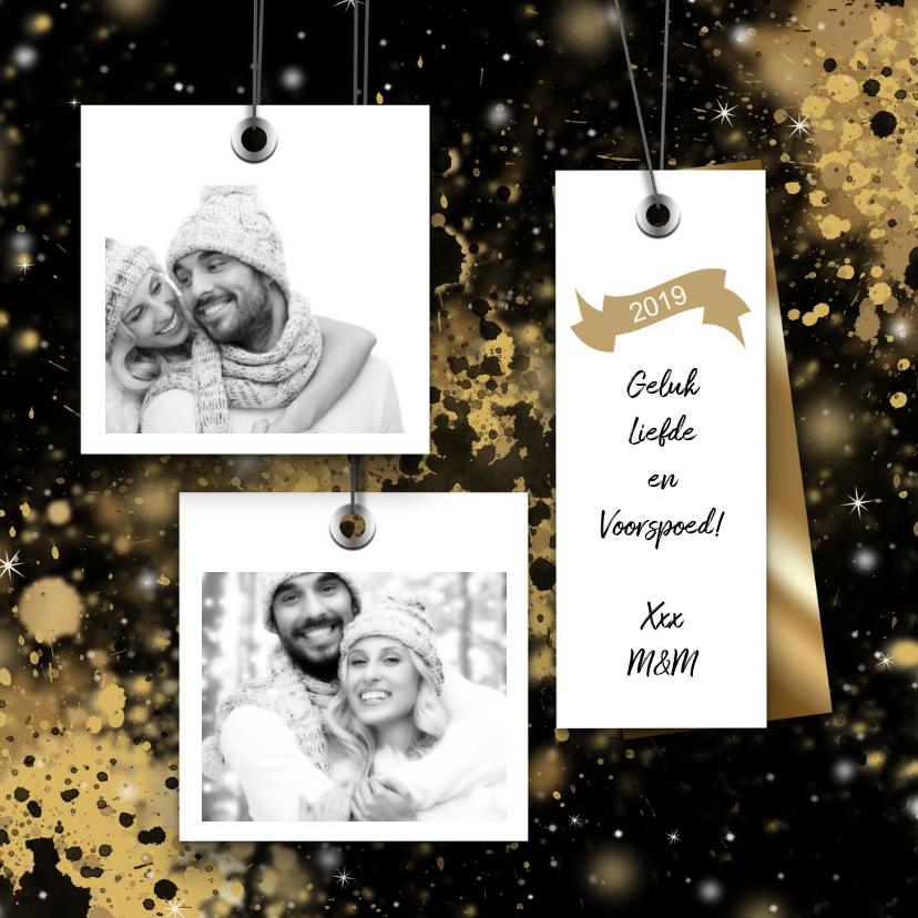 Kerstkaarten - Kerstkaart 2x een foto op de voorzijde