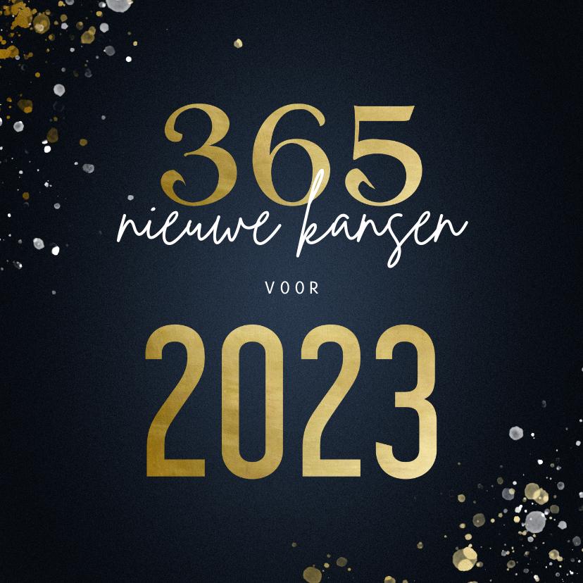 Kerstkaarten - Kerstkaart 365 nieuwe kansen voor 2022 stijlvol