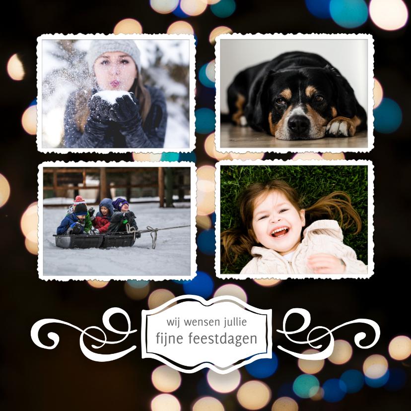 Kerstkaarten - Kerstkaart 4 foto's met persoonlijke tekst 2020