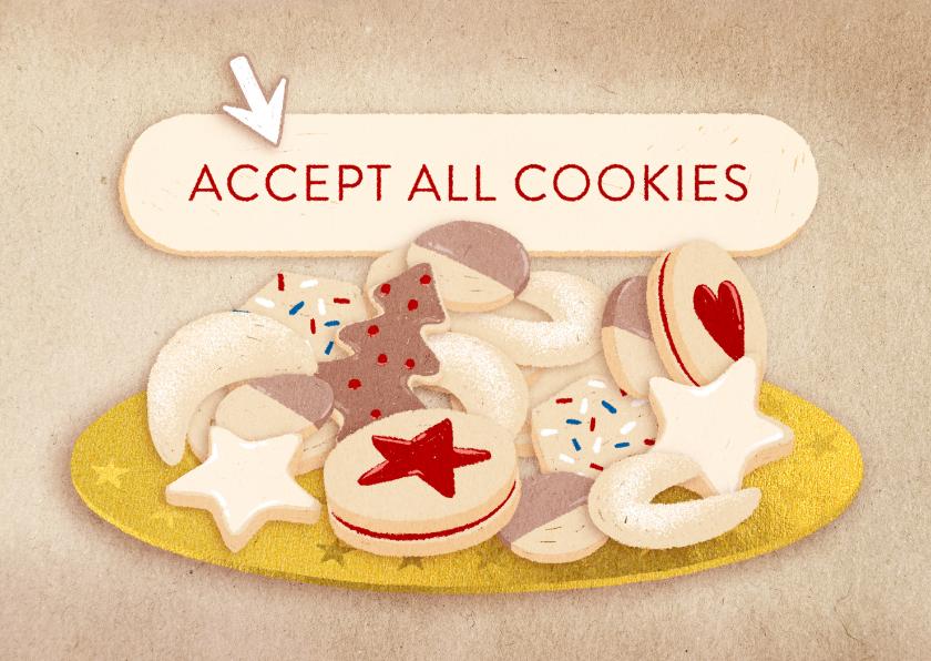 Kerstkaarten - Kerstkaart 'Accept all cookies'