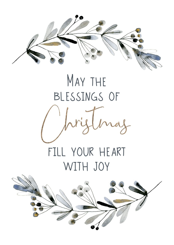 Kerstkaarten - Kerstkaart Blessings of Christmas
