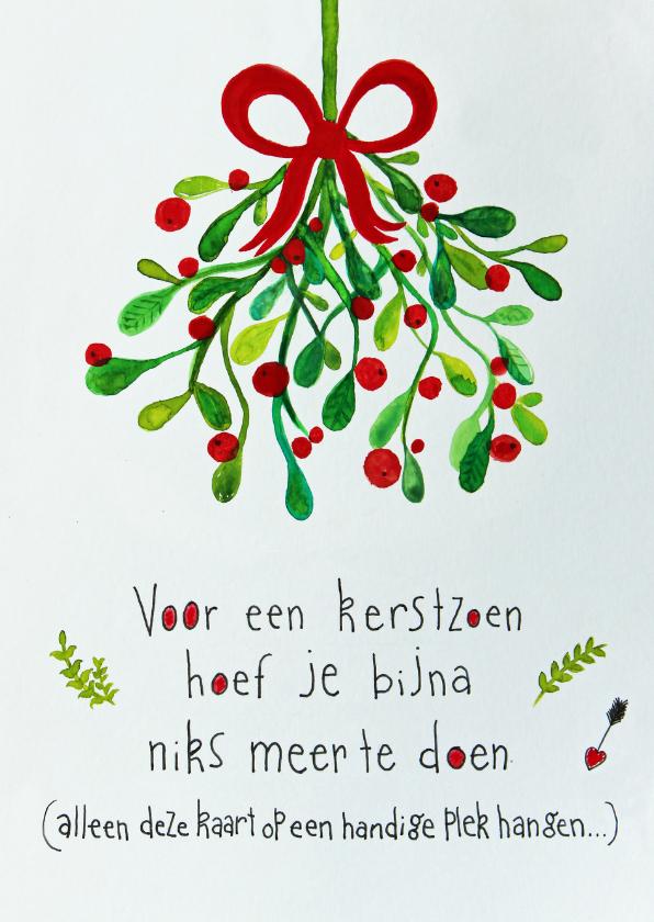 Kerstkaarten - Kerstkaart CliniClowns mistletoe