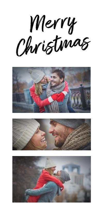 Kerstkaarten - Kerstkaart collage 3 foto's langwerpig