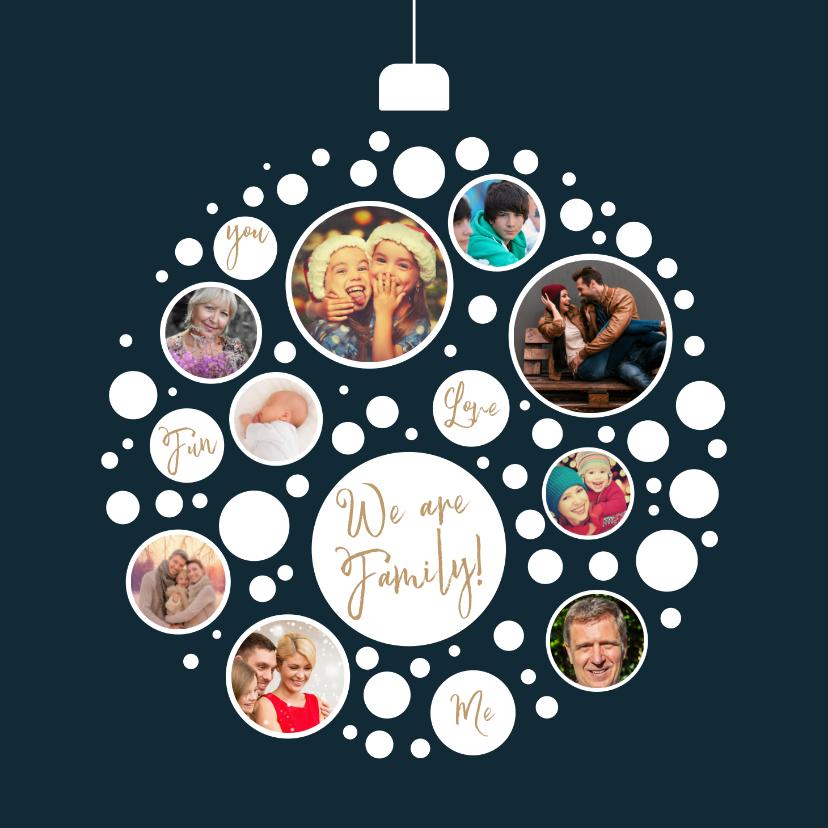 Kerstkaarten - Kerstkaart collage kerstbal samen