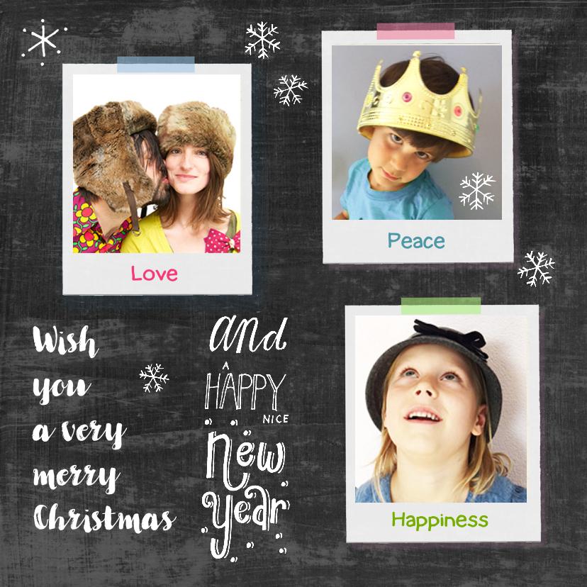 Kerstkaarten - Kerstkaart collage polaroids