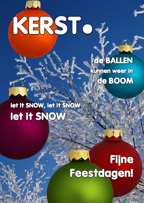 Kerstkaarten - Kerstkaart cover magazine kerstballen 1