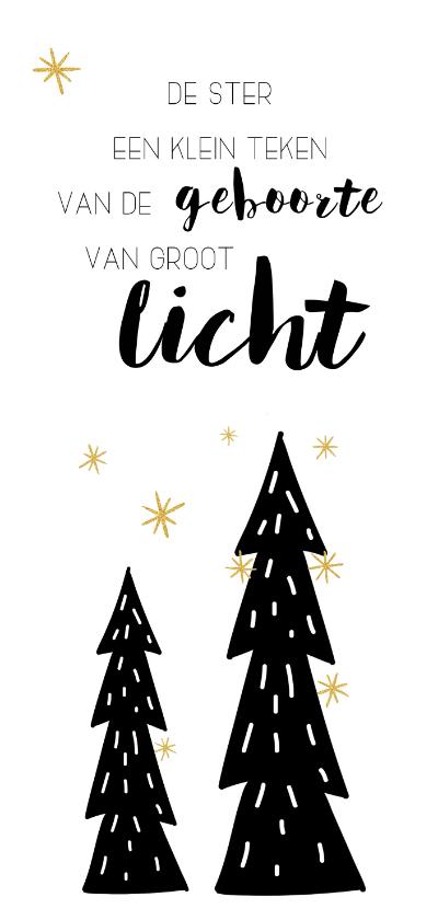 Kerstkaarten - Kerstkaart: De ster een klein teken