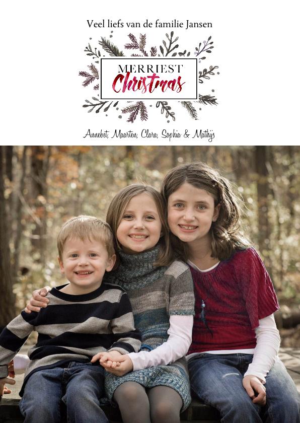 Kerstkaarten - Kerstkaart Elegant Kerst Takjes