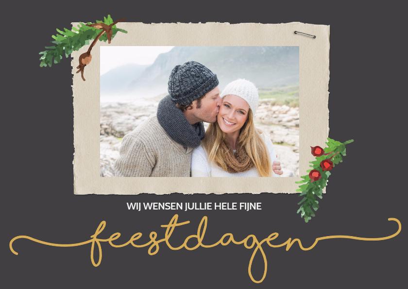 Kerstkaarten - Kerstkaart feestdagen met foto