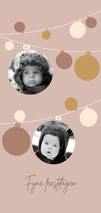 Kerstkaarten - Kerstkaart foto's kerstlampjes