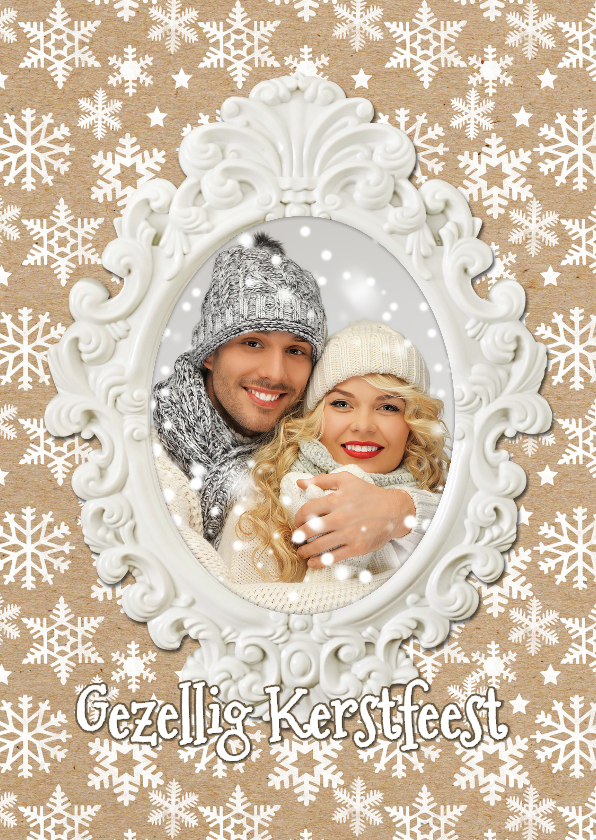 Kerstkaarten - Kerstkaart fotolijst wit - SG