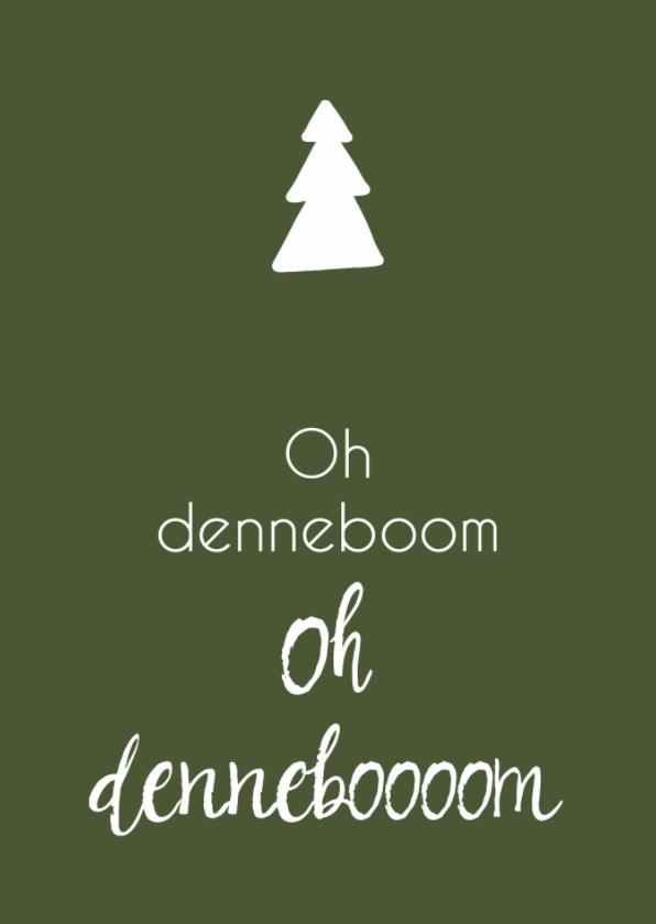 Kerstkaarten - Kerstkaart groen denneboom