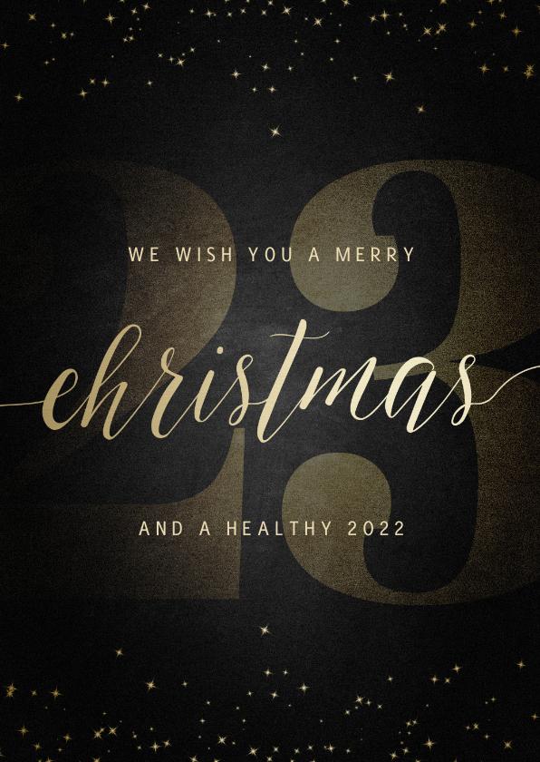 Kerstkaarten - Kerstkaart grote 22 met handgeschreven christmas