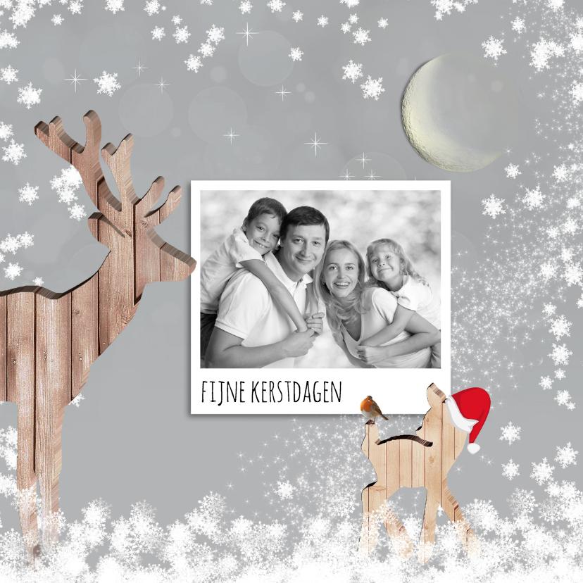 Kerstkaarten - Kerstkaart herten met foto