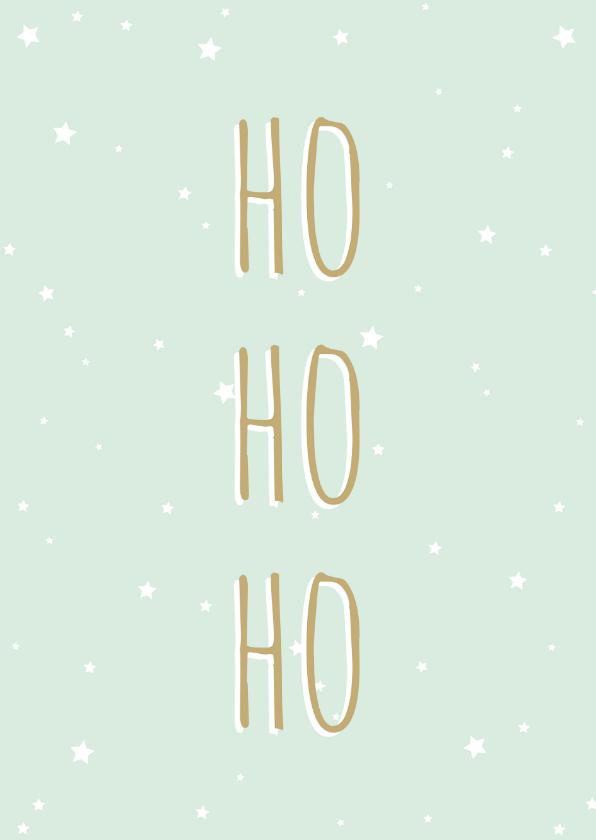 Kerstkaarten - Kerstkaart Ho Ho Ho