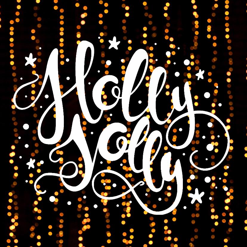 Kerstkaarten - Kerstkaart Holly Jolly