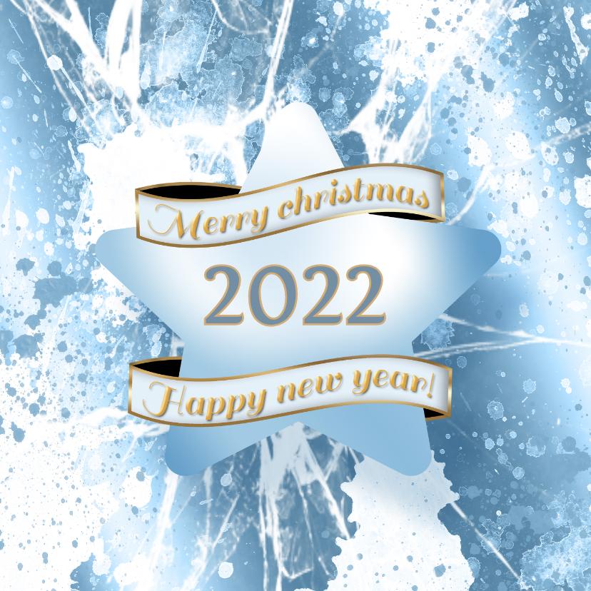 Kerstkaarten - Kerstkaart ijs ster 2022 foto