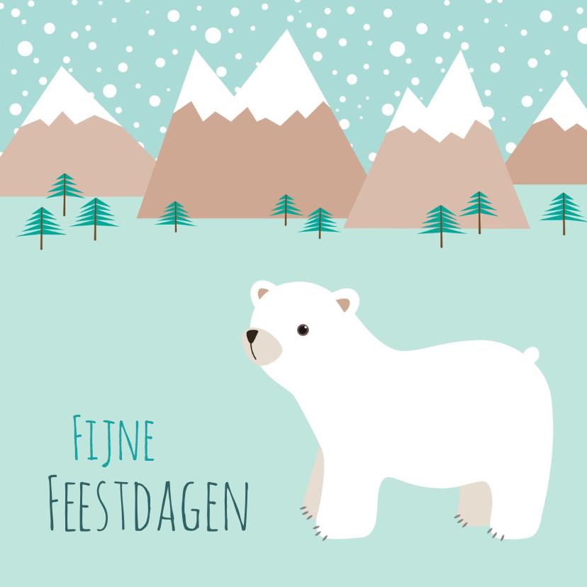 Kerstkaarten - Kerstkaart ijsbeer - HB