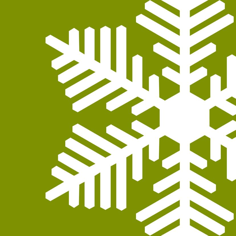 Kerstkaarten - Kerstkaart ijskristal strak groen