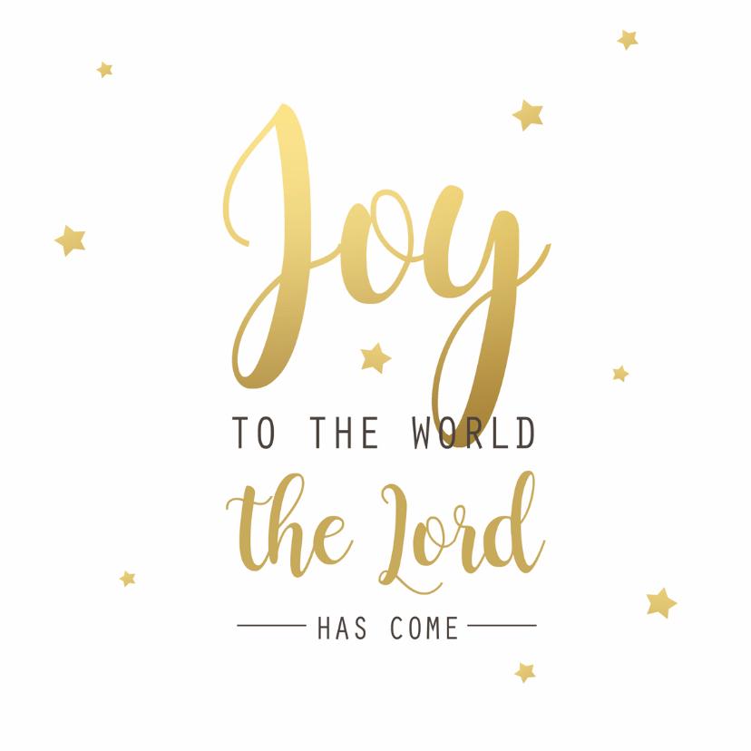 Kerstkaarten - Kerstkaart Joy goudlook