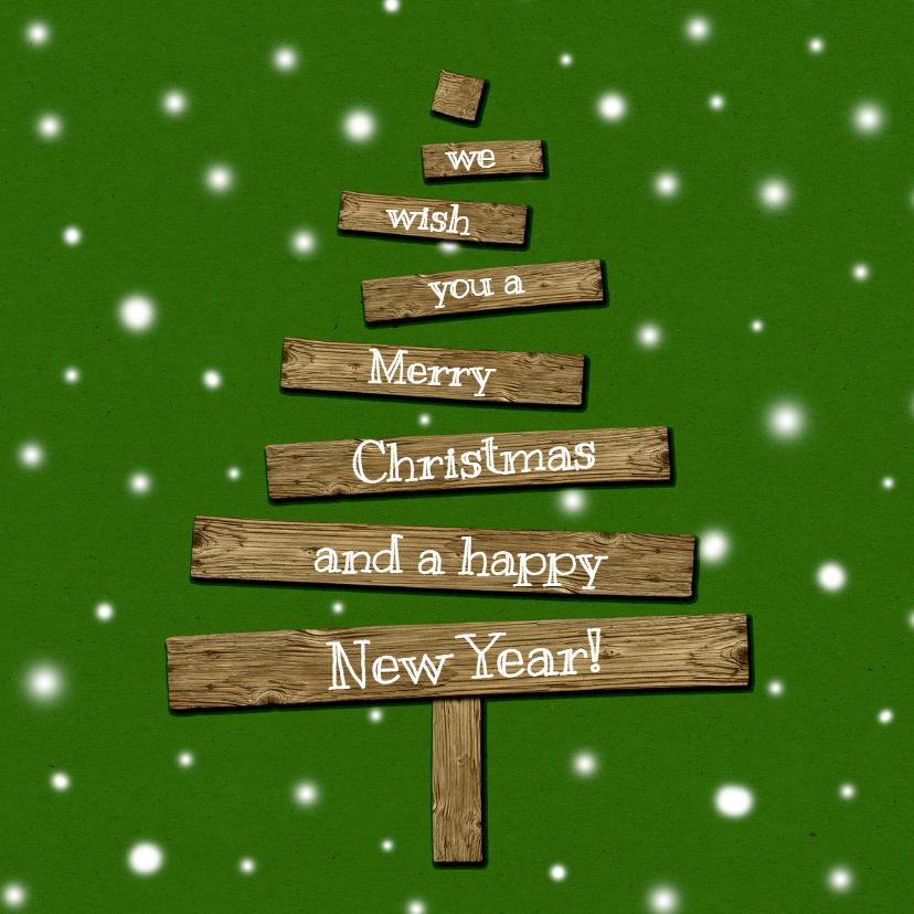 Kerstkaarten - Kerstkaart kerstboom hout2-HR