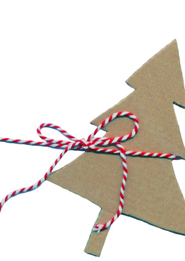 Kerstkaarten - kerstkaart kerstboom label