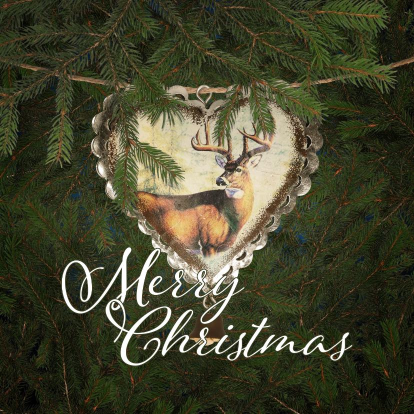 Kerstkaarten - Kerstkaart kersthart en hert