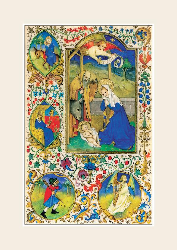 Kerstkaarten - Kerstkaart - Kerstvoorstelling Jozef, Maria en Jezus