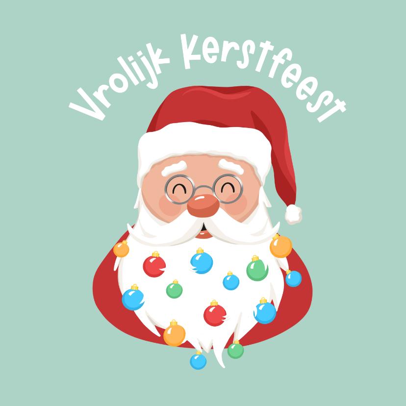 Kerstkaarten - Kerstkaart kinderen vrolijk kerstfeest kerstman kerstballen