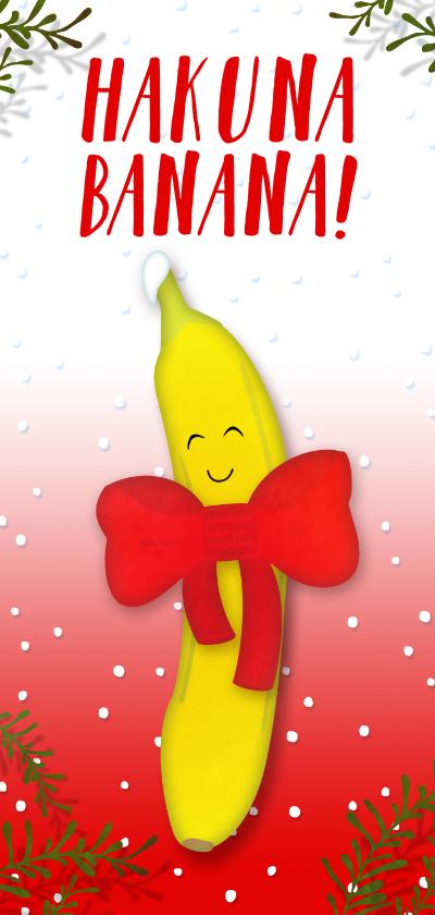 Kerstkaarten - Kerstkaart langwerpig Hakuna Banana!