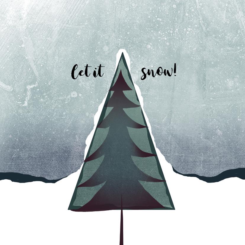 Kerstkaarten - Kerstkaart let it snow 2020-2021, eenvoudig