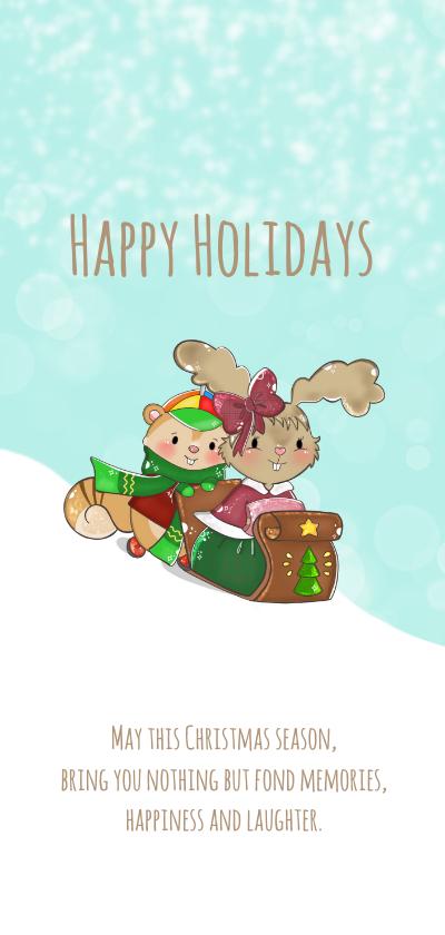Kerstkaarten - Kerstkaart Maple and Chestnut Sneeuw pret